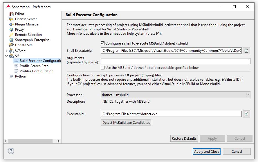 3 8 1  C# Build Executor Configuration